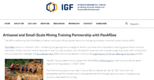 Significant international Media Coverage of the first Artisanal and Small Scale Mining training/non classe